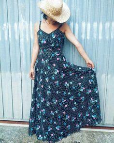70s long vintage dress #dress #vintagedress #longdress #70s #vintage #retrostyle #fashion