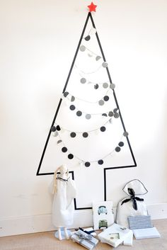 all washi tapes: CHRISTMAS TREE WITH WASHI TAPE