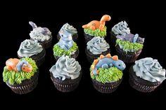 Dinosaurs cupcakes. Cupcakes dinosaures.