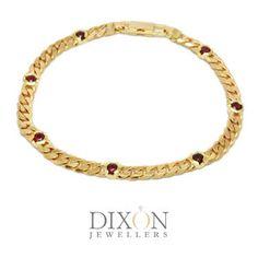 Ruby Station Bracelet in Yellow Gold Ruby Bracelet, Bracelets, Portfolio Design, Custom Jewelry, Custom Design, Brooch, Jewels, Jewellery, Yellow
