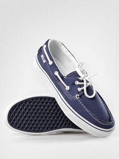 Vans Zapato Del Barco Canvas Navy Blue White Mens Womens Shoes Sizes 4.5-10.5 US #VANS #Skateboarding