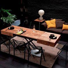 Mesa transformable Box Legno. Ozzio Design