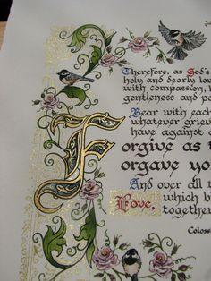 Forgive One Another Illuminated Calligraphy от angelworx на Etsy