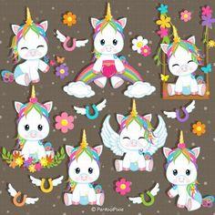 Unicorn Crafts, Unicorn Art, Cute Unicorn, Rainbow Baby, Rainbow Unicorn, Baby Shower Unicornio, 365 Kawaii, Unicorn Baby Shower, Shower Baby