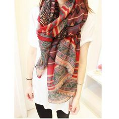 Women Long Voile Tribal Aztec Scarf Shawl Muslim Hijab Bohemia Beach Hmong Scarf....beatiful fabric...i have bought it!