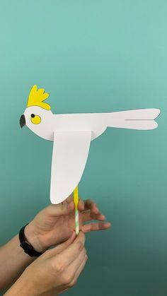 Animal Crafts For Kids, Paper Crafts For Kids, Craft Activities For Kids, Toddler Crafts, Preschool Animal Crafts, Cool Kids Crafts, Projects For Kids, Diy For Kids, Fun Crafts