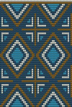 "The location where building and construction meets style, beaded crochet is the act of using beads to decorate crocheted products. ""Crochet"" is derived fro Crochet Chart, Bead Crochet, Crochet Stitches, Filet Crochet, Tapestry Crochet Patterns, Bead Loom Patterns, Cross Stitch Patterns, Mochila Crochet, Tapestry Bag"