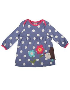 a8751070e Frugi Childrens Designer Clothes Freya Dress Violet Big Spot - Dandy Lions  Boutique