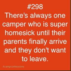 Um, I was that one. And then I had a bunch of them who are now going on six years of camp.