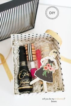 Will You Be My Bridesmaid DIY with Freixenet  Photography: Ruth Eileen - rutheileenphotography.com  SMP