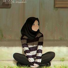 We cant forget the closeup! Kawaii Art, Kawaii Anime, Girl Cartoon, Cartoon Art, Hijab Drawing, Islamic Cartoon, Hijab Cartoon, Hijab Fashionista, Islamic Girl