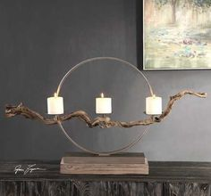 Instantly impress your guests by bringing the outdoors in to your coastal entry or living room with this oh-so-chic large Mendocino Driftwood Candle Holder. Instantly impress your guests by bringing the outdoors in to your coastal entry or Driftwood Candle Holders, Pillar Candle Holders, Pillar Candles, Candleholders, Candle Sconces, Candlesticks, Industrial Light Fixtures, Industrial Lighting, Outdoor Lighting