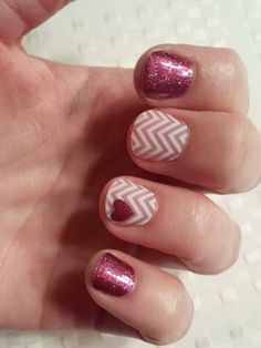 You can also punch out designs (like this tiny heart) and layer your Jamberry Nail wraps to create endless custom designs!