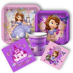 Sofia Party Supplies from . Sofia the First Birthday Party!You can find Sofia party and more on our website.Sofia Party Supplies from . Sofia the First Birthday Party! Sophia The First Birthday Party Ideas, Baby First Birthday, 3rd Birthday Parties, Birthday Ideas, Princess Sofia Birthday, Disney Princess Party, Princess Sophia, Best Friend Christmas Gifts, Party Packs