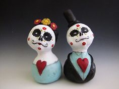 folk art doll day of the dead couple