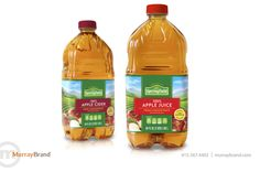 Springfield Private Label & Store Brand juice packaging design by Murray Brand Communications, Inc.