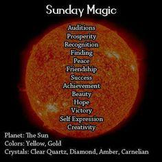 Magick Spells:  Sunday #Magic.