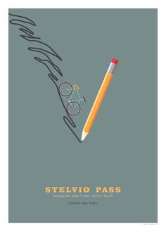 Stelvio Pass Cycling Poster Cycling Hill Climb