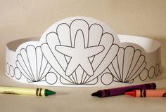Meerjungfrau Papier Krone Farbe eigene von PutACrownOnIt auf Etsy