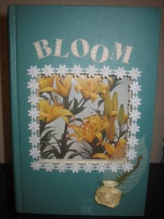 BLOOM picture frame made from a book, by prettythingsbyQ on Etsy, $15.00