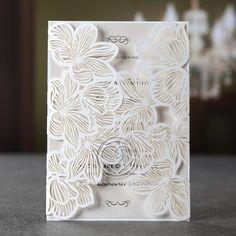 Outstanding Floral Laser Cut Elegance Wedding Card