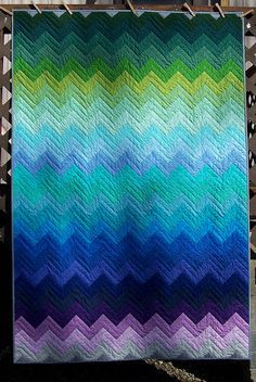 This is a quilt, but great color inspiration for a ripple blanket.