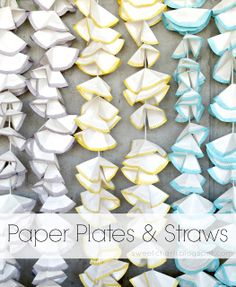 Sweet Charli: DIY Party Garland Using Paper Plates & Straws
