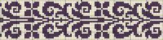 Border 109   Chart for cross stitch or filet crochet.