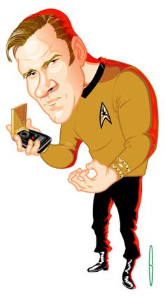 William Shatner as Capt. Kirk by kgreene.deviantart.com - CARICATURE: http://dunway.com/