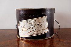 """Vintage Hat Box """"Lussigny""""  Origin: Belgium"""