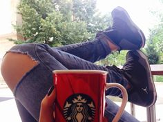 #jordans #girl #sc3 #starbucks #morningcoffee