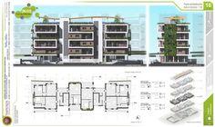 Social Housing Architecture, Architecture Building Design, Hotel Architecture, Home Building Design, Facade Design, Concept Architecture, Residential Architecture, Residential Building Plan, Site Plan Design