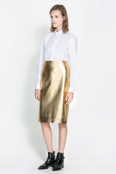 Metallic skirt from Zara