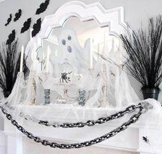 Halloween Decor: Ghost Mantle