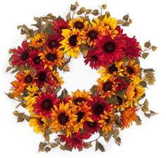 Sunflowers Galore Fall Wreath from Darby Creek Trading