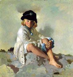 Thru the Eyes of an Artist - Children by Irish William Orpen Irish Painters, The Edge, Research Images, Irish Art, People Art, Vintage Artwork, Bloomsbury, Figure Painting, Figurative Art