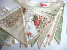 Lace Bunting, Vintage Bunting, Wedding Bunting, Bunting Garland, Bunting Flags, Fabric Bunting, Garlands, Bunting Ideas, Bunting Pattern