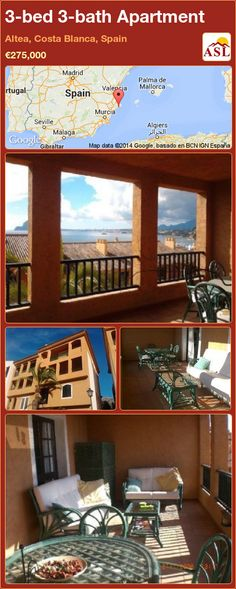 3-bed 3-bath Apartment in Altea, Costa Blanca, Spain ►€275,000 #PropertyForSaleInSpain