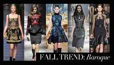 Designers want you to go baroque this fall!