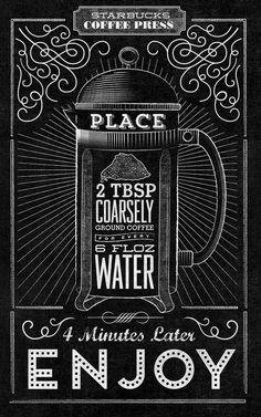 Creative Starbucks Typographic Chalkboard Murals