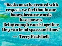 Terry Pratchett quote                                                                                                                                                                                 More