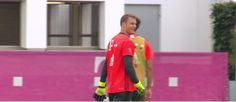 """BLOG: Neuer brilha no """"ataque"""" do Bayern de Munique e faz gol de cabeça em treino"""