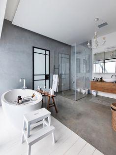 COCOON modern bathroom inspiration bycocoon.com | inox stainless steel bathroom faucets | modern indistrial chic bathroom design | renovations | interior design | villa design | hotel design | Dutch Designer Brand COCOON