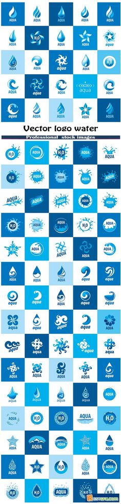 Vector logo water