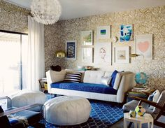 Madeline Weinrib Indigo Brooke Cotton Carpet, via Oh Joy! http://ohjoy.blogs.com/my_weblog/2012/11/baby-proofing-your-stylish-living-room.html
