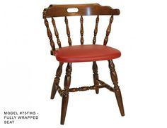 This Traditional Colonial Mates All Wood Chair Has Six Spindles And 3/4  Arms On