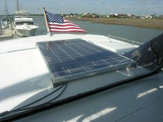 Now that you have your solar panel, how do you go about installing solar panels on boats? Mounting the panel 90 degrees to the sun is optimum.