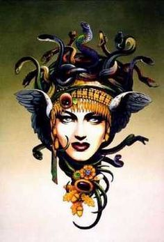 Medusa artwork, this would make an amazing tattoo. New take on an old story.