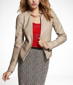 (MINUS THE) LEATHER BLAZER at Express in ivory