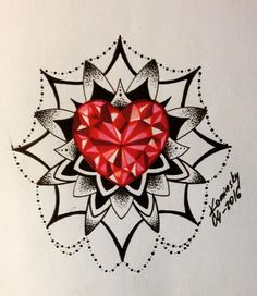 mandala diamond tattoo tattoo diamond heart diamond tattoos web ...